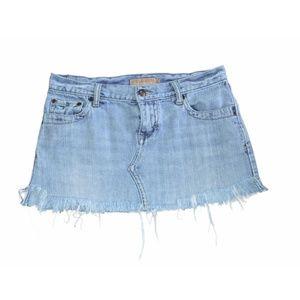 Jeans Skirt Cutoff Distressed Denim